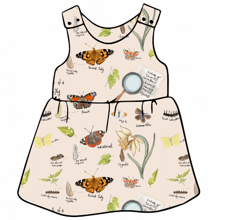 Butterfly Life Cycle Pinafore Dress
