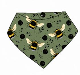 Green Bee Bandana Bib