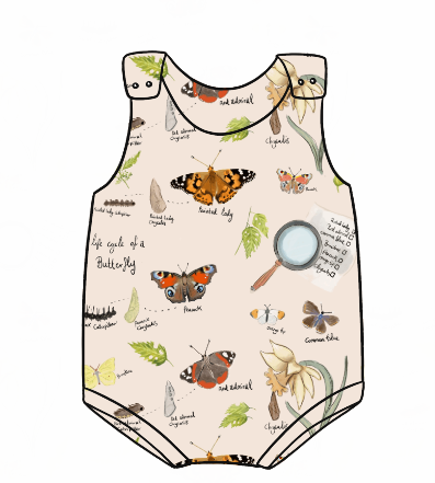 Butterfly Life Cycle Bummie Romper