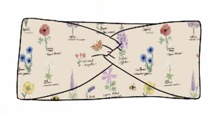 Botanical Flowers Twist Headband