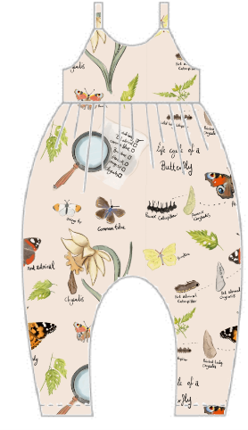 Butterfly Life Cycle Gathered Romper