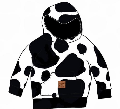 Cow Print Hoody