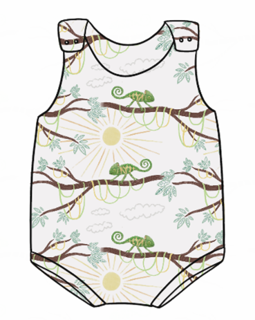 You're One In A Chameleon Bummie Romper