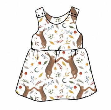 Dancing Hares Pinafore Dress