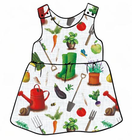 Livin' Life On The Veg Pinafore Dress