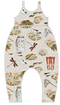 Pond Dipping Gathered Romper