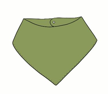 Moss Green Bandana Bib