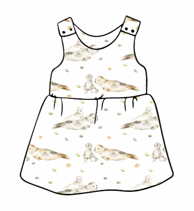 Seal & Pup Pinafore Dress