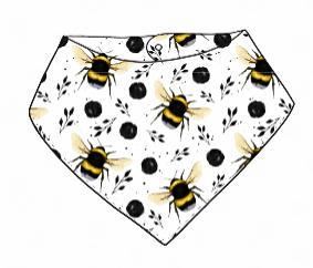 White Bee Bandana Bib