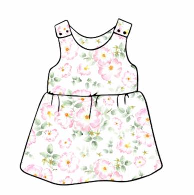 Wild Rose Pinafore Dress