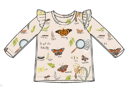 Butterfly Life Cycle Flutter Tee's
