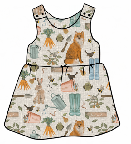 Down At The Bottom Of The Garden Pinafore Dress