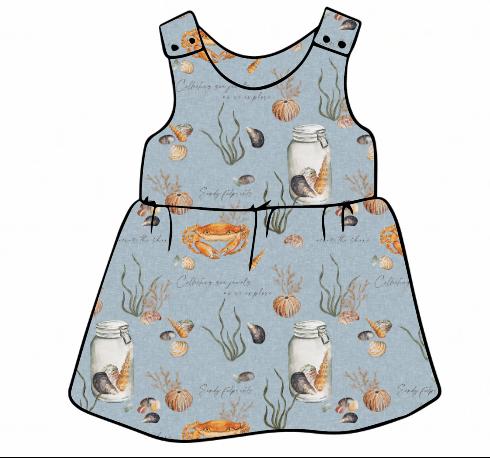 Sea Jewels Pinafore Dress