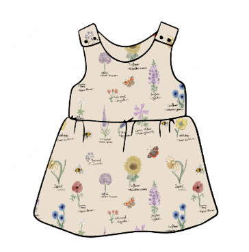 Botanical Flowers Pinafore Dress