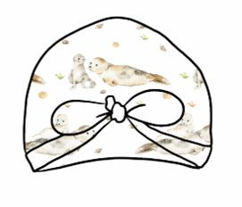 Seal & Pup Turban