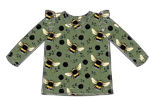 Green Bee Flutter Tee's