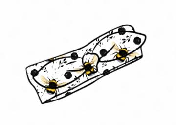 White Bee Knot Headband