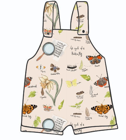 Butterfly Life Cycle Short Dungarees