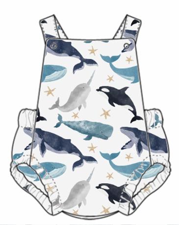 Watercolour Whales Summer Romper