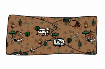 Wild Camping Twist Headband