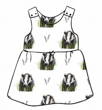 Brock White Pinafore Dress