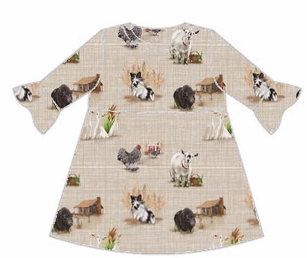 Home Farm Frill Sleeve Dress