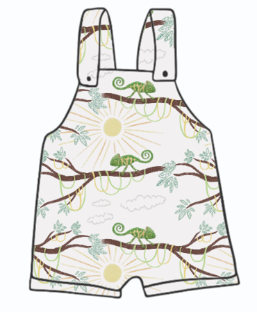 You're One In A Chameleon Short Dungarees