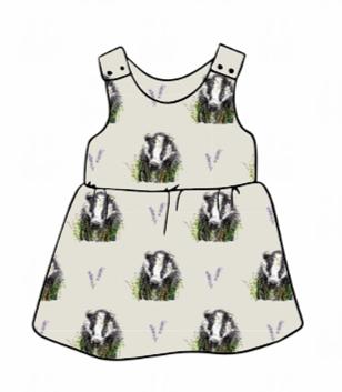 Brock grey Pinafore Dress