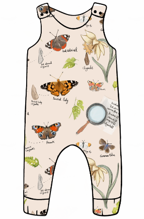 Butterfly Life Cycle Harem Romper