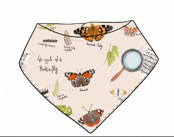 Butterfly Life Cycle Bandana Bib