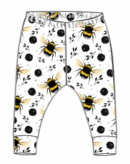 White Bee Leggings (From 18-24m)