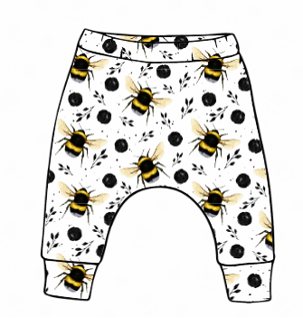 White Bee Slim Harem Leggings