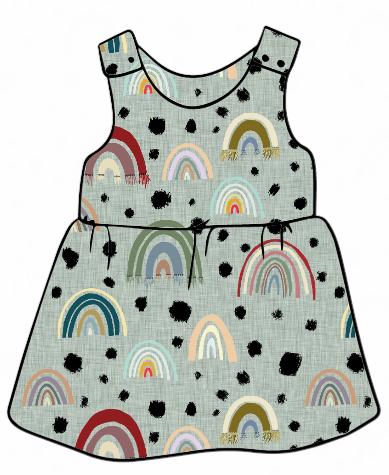 Rainbow Pinafore Dress