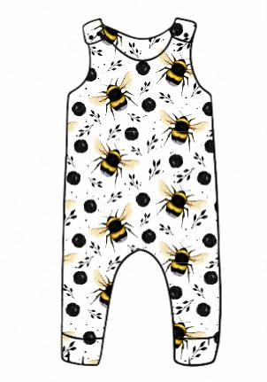 White Bee Harem Romper
