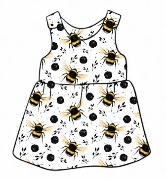 White Bee Pinafore Dress
