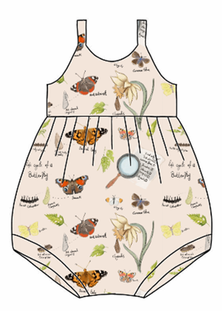 Butterfly Life Cycle Bubble Romper