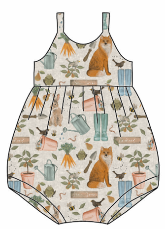 Down At The Bottom Of The Garden Bubble Romper