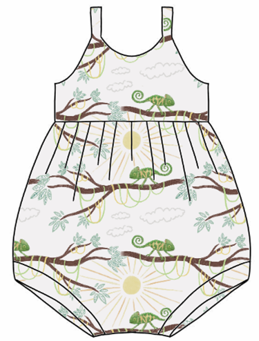 You're One In A Chameleon Bubble Romper