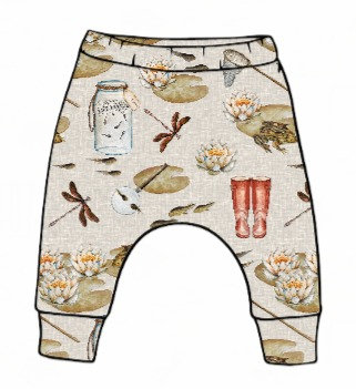Pond Dipping Slim Harem Leggings