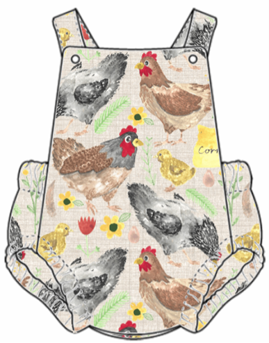 Lets Talk About Chickens Summer Romper