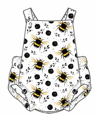 White Bee Summer Romper