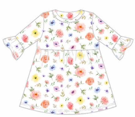 Flower & Bloom Frill Sleeve Dress