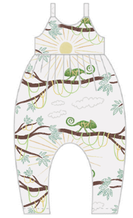 You're One In A Chameleon Gathered Romper
