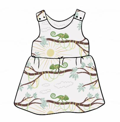You're One In A Chameleon Pinafore Dress