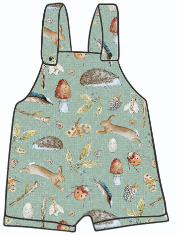 The Great Nature Scavenger Hunt Short Dungarees