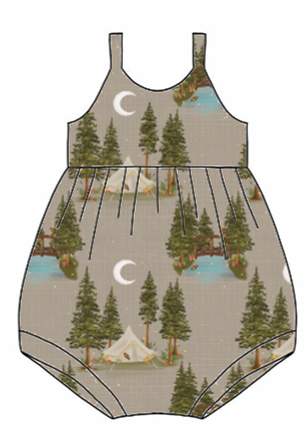 Lets Go Glamping Bubble Romper