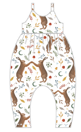 Dancing Hares Gathered Romper