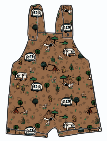 Wild Camping Short Dungarees