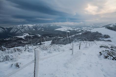 Neige sur le massif de l'Espinouse