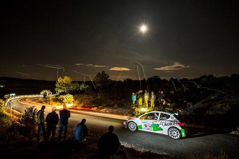 Spéciale nocturne du rallye du Cigalois